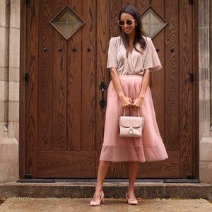 Cassandra – Blush Pink Slim Tulle Skirt